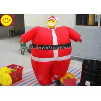 Nylon Lightweight Advertising Costumes , Red Inflatable Santa Costume With Fabric Material Manufactures