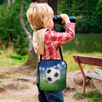 Buy cheap 3D Football Kids Insulated Lunch Bag With Shoulder Strap from wholesalers
