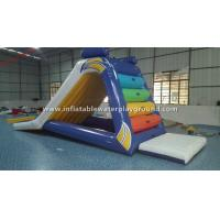 Quality Kids Small Inflatable Water Slide , Inflatable Lake Slide With Durable Anchor for sale
