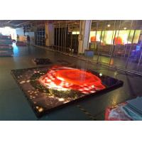 P6.25 Interactive LED Floor , LED Dancing Floor Screen Die Casting Aluminum Cabinet Manufactures