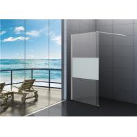 6mm Tempered Clear Glass Walk In Shower Enclosures For Cottage Manufactures