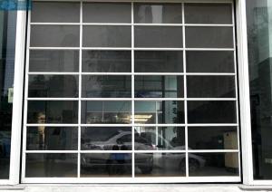 Aluminum Frame Transparent Glass Panel Sectional Garage Doors Manufactures