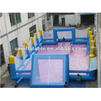 PVC Inflatable Sports Games Customized Terrestrial Water Volleyball Court Manufactures