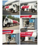 10metric tons 336hp SINO TRUK HOWO brand lpg gas dispensing truck for filhling gas bottles, 25m3 lpg gas dispenser truck Manufactures