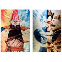 3D Flip Lenticular Anime Poster Printing Dragon Ball / 3 Dimensional Pictures Manufactures