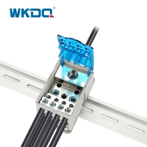 Industrial Power Wire Distribution Block , Din Rail Distribution Block UKK 250A Manufactures