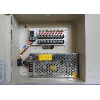 Quality 12V DC 5A 9 Channel CCTV Power Supplies , Surveillance Cameras Power Supply Box for sale