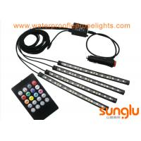 Multicolor Music Car Interior Light / 5050 RGB LED Underdash Lighting Kit Manufactures