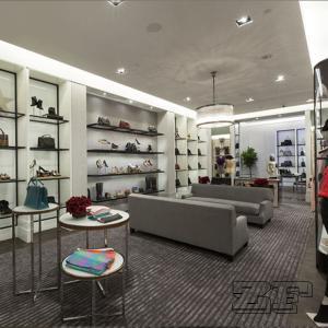 Handbags showroom furniture display design Manufactures