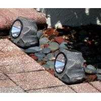 Garden 4 LED Stone Solar Lights 1.2 Lumens Outdoor Rock LED Solar Spot Light Manufactures