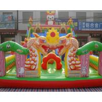 Quality Giant gorilla inflatable bouncer playground fun city with big slide and climbing wall for sale