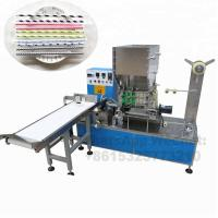 Paper Drinking Straw Packing Machine For Single Package , Long Working Time Manufactures