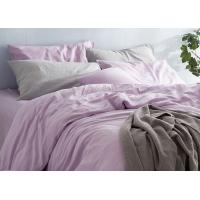 Quality Linen Cotton Dyed Plain Bedding Sets , 4Pcs Comforter Bedding Sets For Home for sale