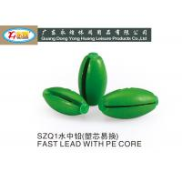 Buy cheap 30G Olive split shot type Lead Fishing Sinkers with PE core die casting fishing from wholesalers
