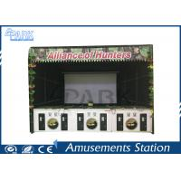 Amusement Park Coin Operated Alliance Shooting Arcade Machines With 6 Sets Guns Manufactures
