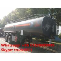 2 axles 25cubic meters chemical tank trailer for sale,2017s factory sale best price 25,000Liters chemical tank trailer Manufactures