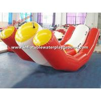 Quality White / Red Inflatable Swimming Toys Pool Teeter Totter With Durable Handles for sale