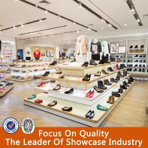 New fashion shoe rack and wood shoe showcase design Manufactures