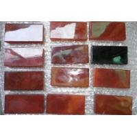 Black agate and carnelian small tile Manufactures