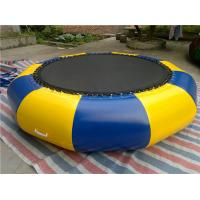 Indoor Sporting Small Water Trampoline Inflatable Double - Line Sewed Manufactures