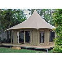 Large Luxury Glamping Safari Hotel Bell Tent 1 Years Warranty Manufactures