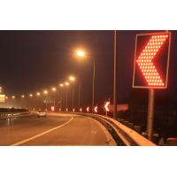 GPS Controlled LED Curve Flashing Warning Sign Solar Traffic Signals Manufactures