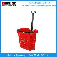 Plastic injection mould customer design plastic shopping basket injection mould Manufactures