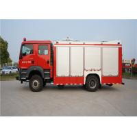 Quality 4x2 Drive Type Fire And Rescue Vehicles , Approach Angle 19° Motorized Fire for sale
