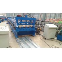 Excellent Floor Deck Roll Forming Machine , sheet metal forming equipment 1.5mm galvanized steel Manufactures