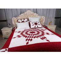 Unique Lone Star Geometric Bedspreads And Coverlets Red / White For Home Manufactures