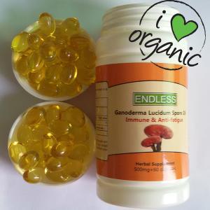 500mg 60capsules/bottle organic lingzhi spore oil capsule ganoderma lucidum extract Manufactures