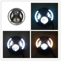7 Inch 70W Round 3700 LM Jeep Wrangler Headlights With Half Halo Ring Angel Eye Manufactures