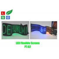 Quality Pixel Pitch 7.62mm LED Flexible Screen Sign RGB Color With Remote Control for sale