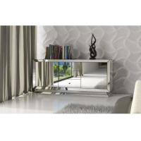 Modern Design Mirrored TV Stand With 2 Doors 3 Drawers Silver Color Manufactures
