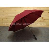 Formal Red Design Oversized Golf Umbrella , Women'S Stick Umbrellas Metal Tips Manufactures