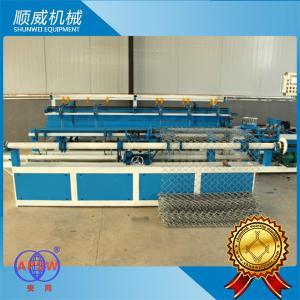 4m Length Chain Link Wire Machine Φ1.4mm - Φ4.5mm Weaving Diameter Manufactures