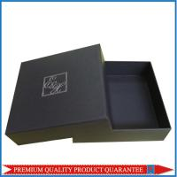 Silver Hot Stamp Logo Print Matte Black Paper Gift Packaging Box Lid & Base Manufactures