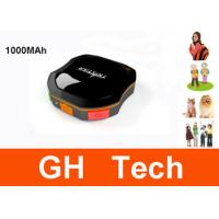 Portable 1000MAh Dog GPS Tracker IPX6 Waterproof For Pets / Animals Tracking Manufactures