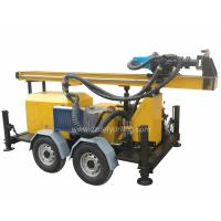 China Manufacturer of DFQ-150W 150m Trailer Rock DTH down-to-hole Water Borehole Drilling Rig Machine on sale