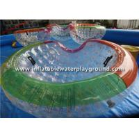 Durable Rope Inflatable Zorb Ball , Bowl Shape Water Zorb Ball For Pool Game Manufactures
