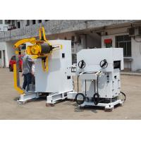Hydraulic Loading Car Decoiler Straightener Feeder For Electron Industry Manufactures