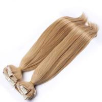 Brazilian Straight Clipped In Hair Extensions Golden Blonde For Woman Manufactures