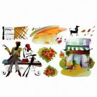 Removable Wall Stickers, Suitable for Decoration, Eco-friendly, Made of PVC Manufactures
