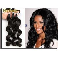 """None Chemical Virgin Peruvian Hair Extensions Loose Wave 12""""- 28"""" Shedding Free Manufactures"""