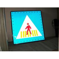 Solar Powered Warning Signs Pedestrian Crossing Light Aluminum Board Manufactures