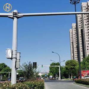 China Anti Seismic Design CCTV Camera Pole , Steel Surveillance Camera Pole on sale