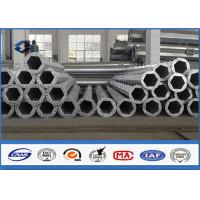 Low Voltage 9m davit arm transmission pole , tapered steel pole 2.5 mm - 30 mm Thickness Manufactures