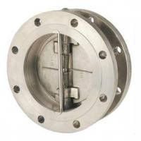 Flange connecting double disc type swing check valves