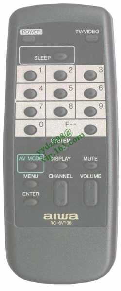 Quality Single Fuction AIWA RC-6VT06 for sale