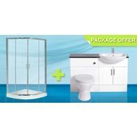 China Rutland Ensuite 900 Quadrant - Cloakroom - EnSuites on sale